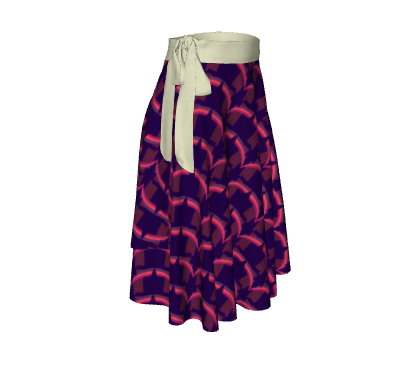 Total Package Wrap Skirt - Grace Jones - Purple