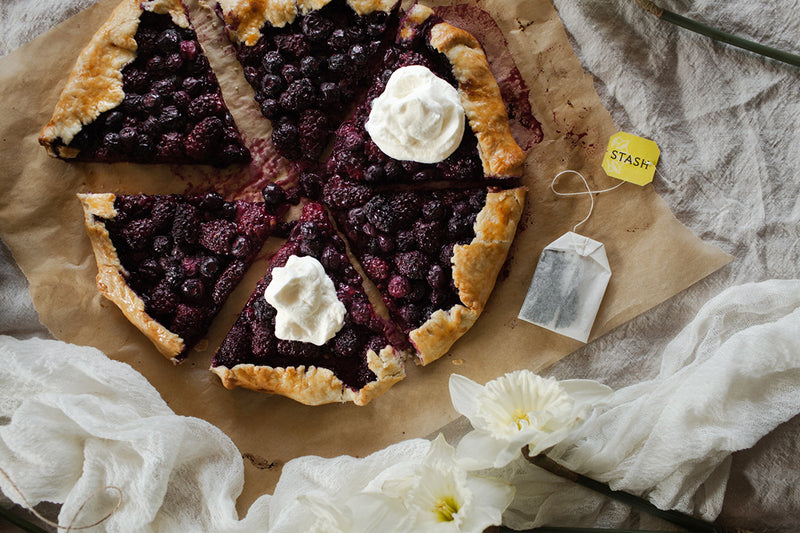Berry Almond Galette With Asian Pear Tea-Infused Cream