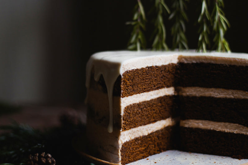 Gingerbread Cake With Chai Spice Buttercream