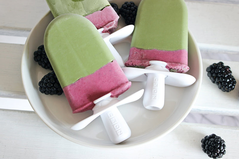 Matcha And Blackberry Pops