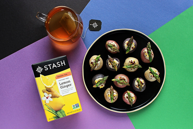 Stuffed Mini Potatoes With Lemon Ginger Tea Recipe | Stash Tea