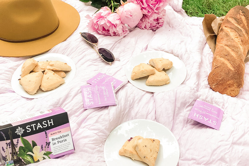 Tea Infused Lavender Scones with Breakfast in Paris | Stash Tea
