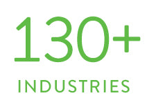 Over 130 industries