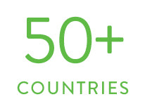 Over 50 countries