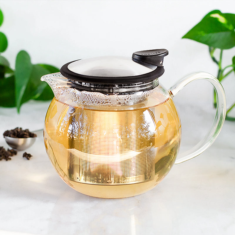 Bola Glass Teapot 25 oz | Teaware to brew loose leaf tea | Stash Tea
