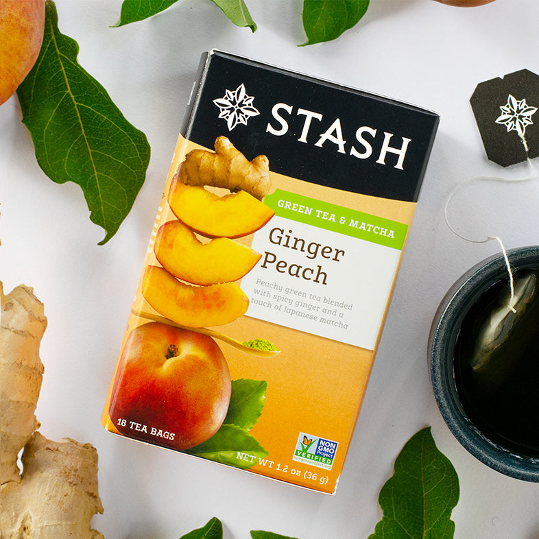 Stash Tea | Stash's Ginger Peach Green Tea has become an addiction. I always have it in my house and even bring it with me everywhere...just in case! Smooth, flavorful and with an almost spicy kick from the ginger, I just adore it.