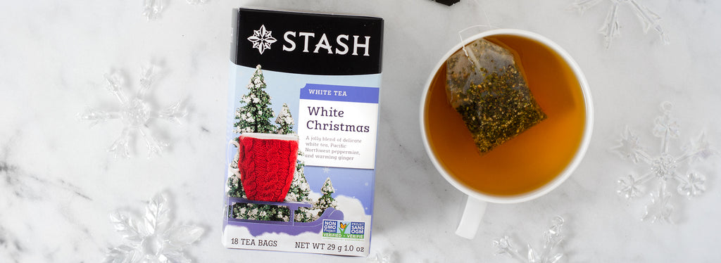 White Christmas White tea in tea bags | Limited edition | Stash Tea