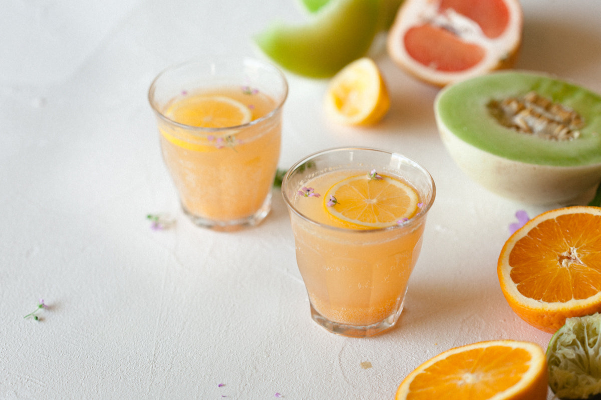 Citrus and Honeydew Sparkling Tea Punch