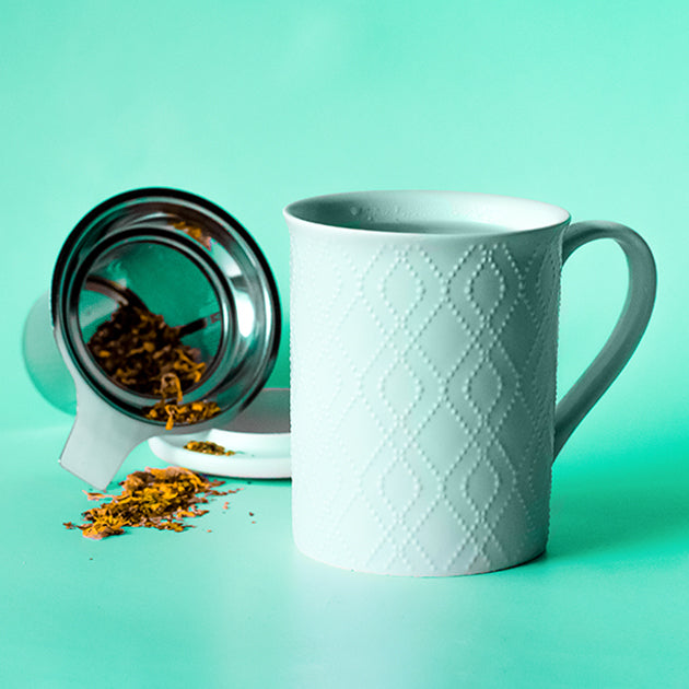 Souk Mint Tea Infuser Mug with Lid | Stash Tea