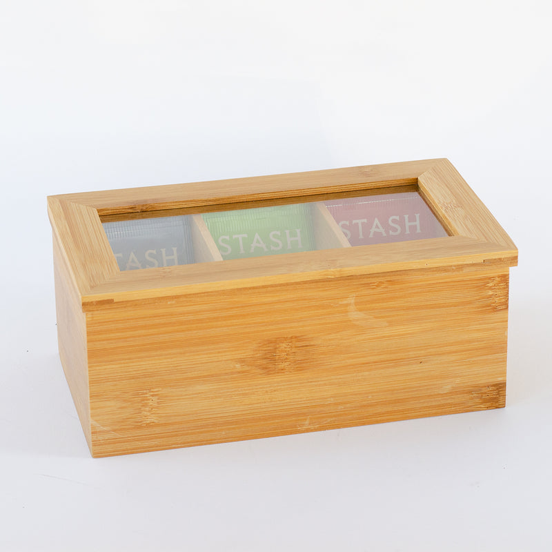 Small Bamboo Tea Chest