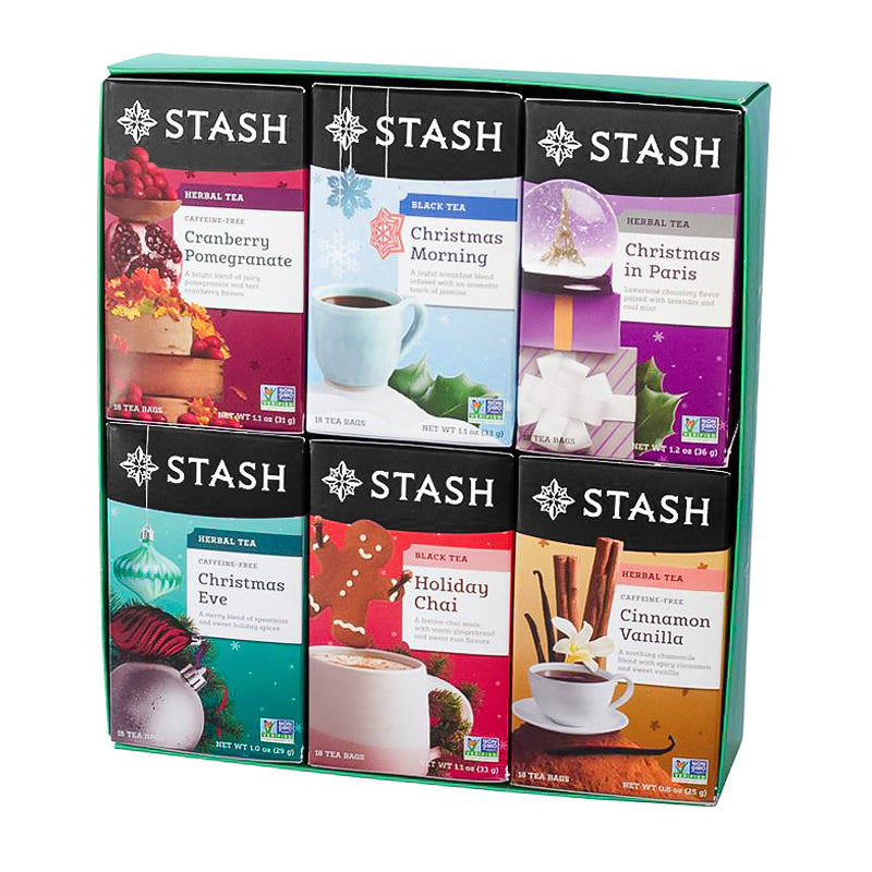Six-Flavor Seasonal Teas Gift Box | Fall & Holiday Teas | Stash Tea
