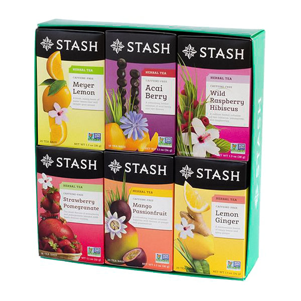 Six-Flavor Fruity Herbal Teas Gift Box | Stash Tea