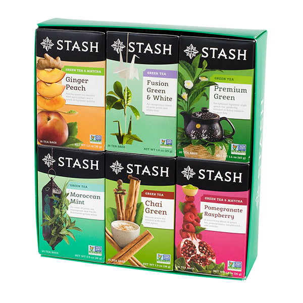 Six-Flavor Green Teas Gift Box | Stash Tea