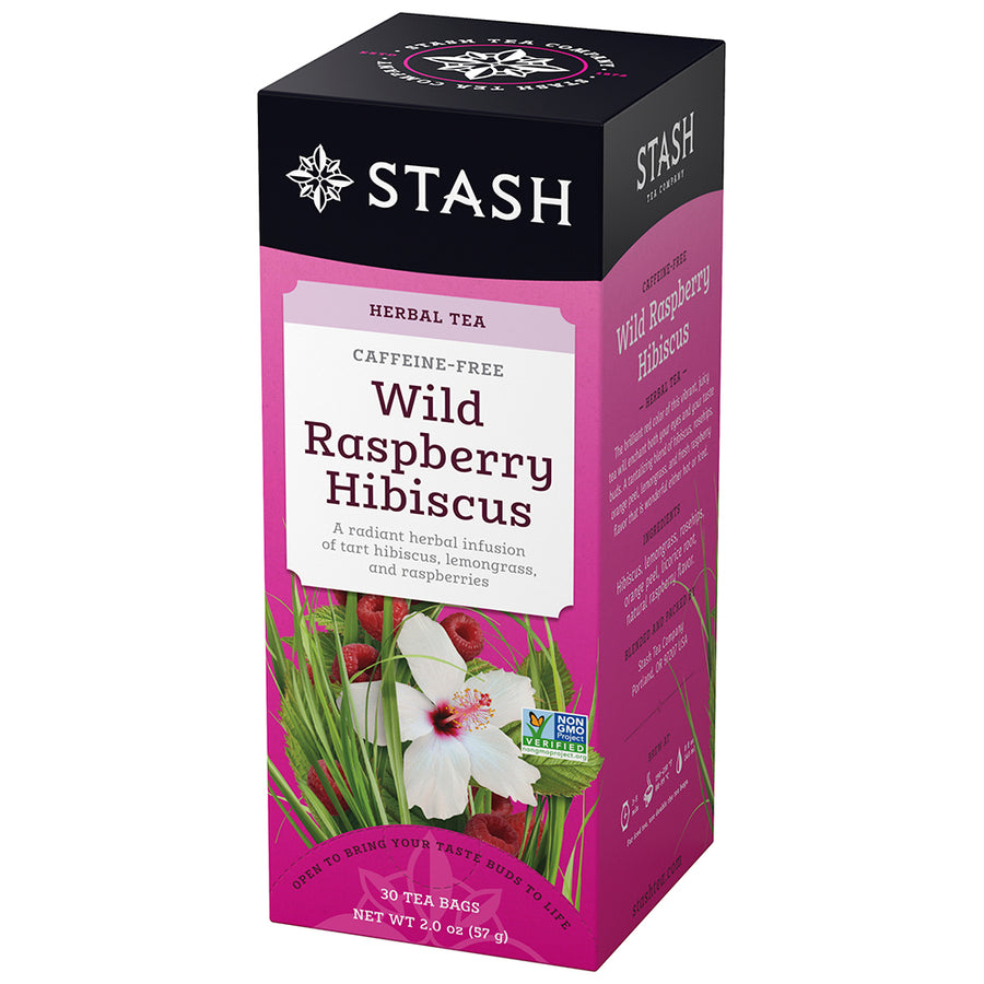 Wild Raspberry Hibiscus Herbal Tea Bags Stash Tea