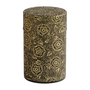 Black & Gold Mum Japanese Wazome Paper Tea Canisters | Stash Tea