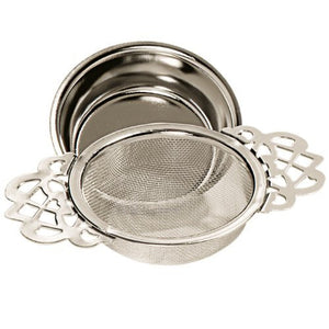 English Tea Strainer with Drip Cup