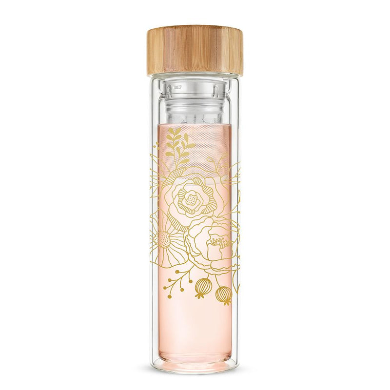 Blair Bouquet Glass Travel Tumbler with Infuser | Stash Tea