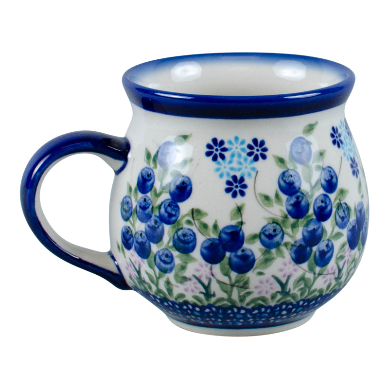 Polish Pottery Blueberry Bubble Mug