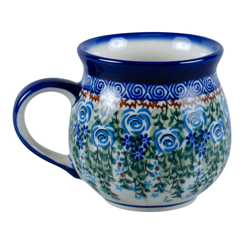 Polish Pottery Blue Rose Bubble Mug