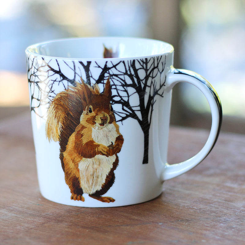 Winter Squirrel Mug in Gift Box