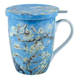 Van Gogh Almond Blossom Infuser Mug with Lid in Gift Box