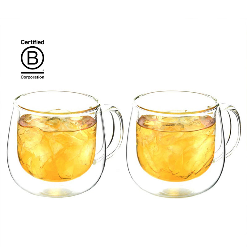 Fresno Double Walled Glass Mugs Set