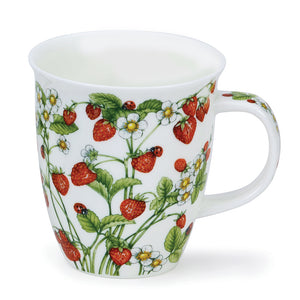 Dunoon Fine Bone China Wild Strawberries Mug