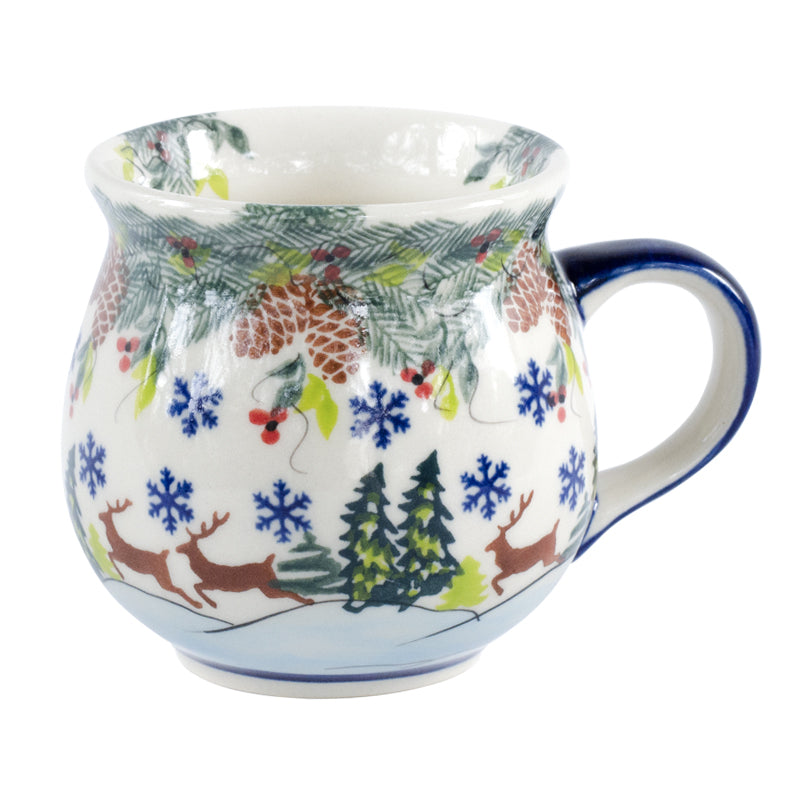 Polish Pottery Reindeer Bubble Stoneware Mug 11 oz | Stash Tea
