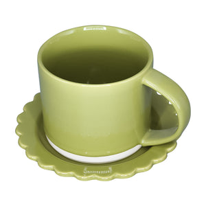Mix and Match Mugs with Scalloped Saucers 12 oz | Stash Tea