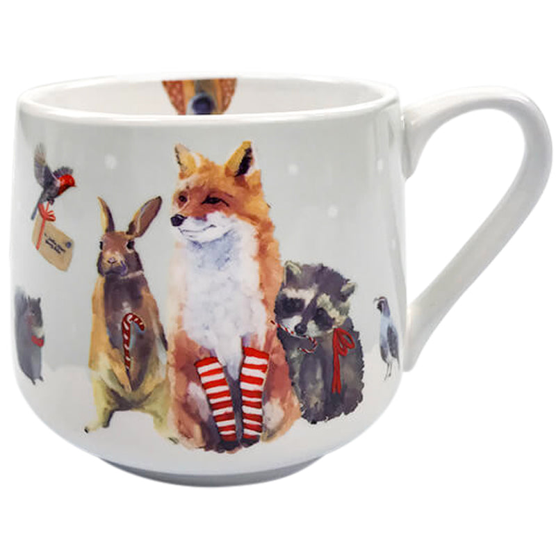 Christmas Critters Porcelain Tea Mug 14 oz | Stash Tea