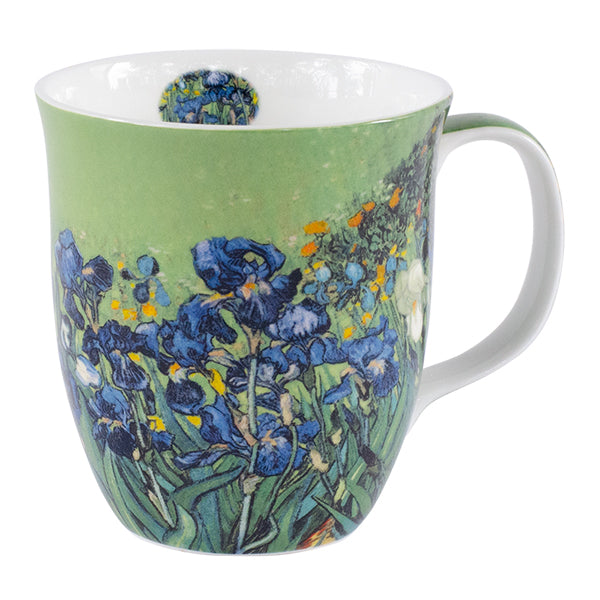 Van Gogh Irises On Green Mug In Gift Box 12 oz | Stash Tea