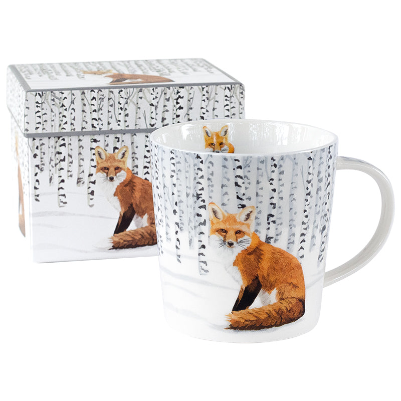 Wilderness Fox Mugs in Gift Box 14 oz | Stash Tea