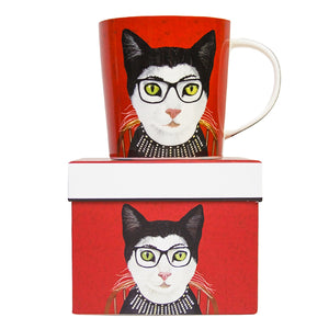 RBG Cat Mug in Gift Box 14 oz | Stash Tea