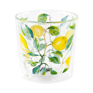 Beautiful Lemons Double Wall Tea Glass 10 oz | Stash Tea
