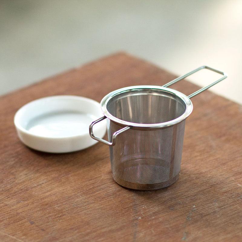 Extra Fine Tea Infuser with Porcelain Caddy