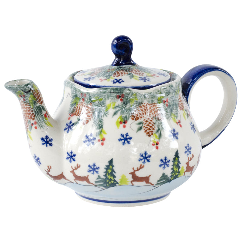 Polish Pottery Reindeer Stoneware Teapot 26 oz | Stash Tea