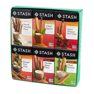 Six-flavor Chai Teas Gift Box | Stash Tea