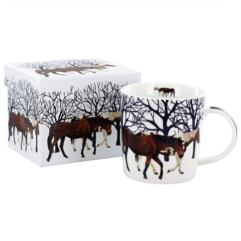 Winter Horses Mug in Gift Box
