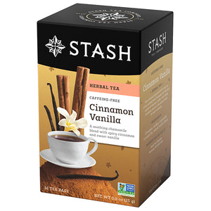 Cinnamon Vanilla Herbal Tea Bags | Fall Tea | Stash Tea