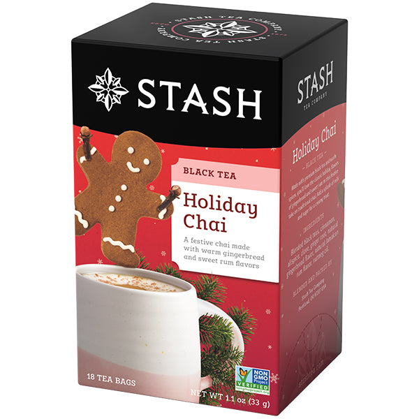 Holiday Chai Black Tea Bags | Christmas Tea | Stash Tea