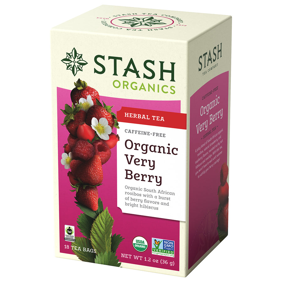 Organic Very Berry Herbal Tea Stash Tea