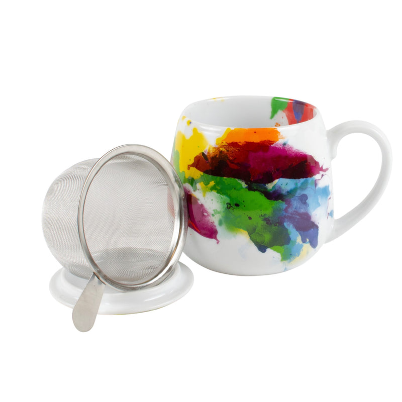 Color Splash Tea for You Mug Set with Infuser