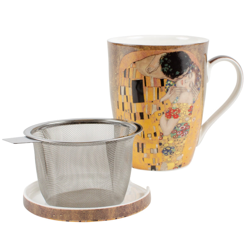 Gustav Klimt The Kiss Infuser Mug with Lid in Gift Box
