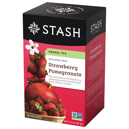 Strawberry Pomegranate Red Herbal Tea | Stash Tea