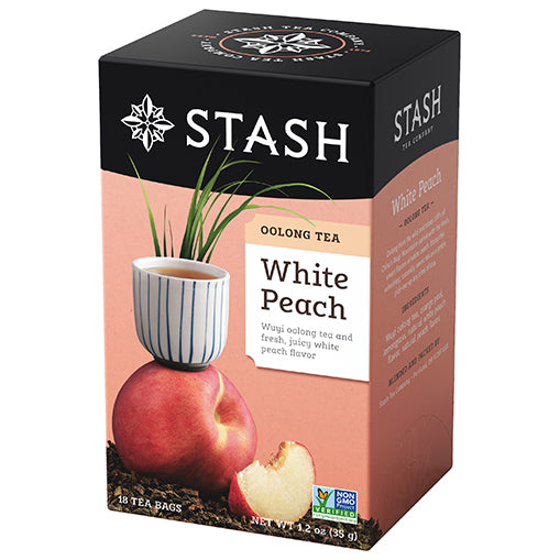 White Peach Oolong Tea Bagged | Stash Tea