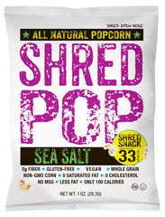 SHRED POP - Sea Salt (24 - 1oz bags)