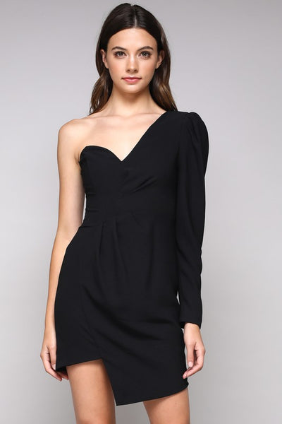 Apparel- Ryan One Shoulde Assymmetric Dress