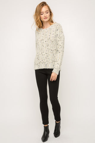 Apparel- Johnny Lurex Dotted Heather Pullover Sweater
