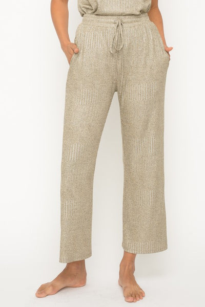 Apparel- Brady Shimmering Metallic  Lounge Pants