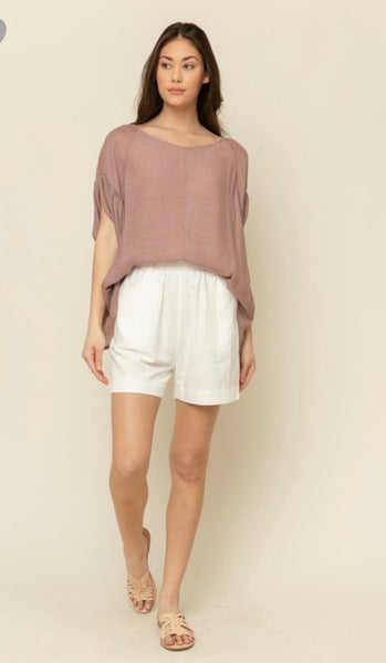 Apparel- Amy Top Dusted Rose